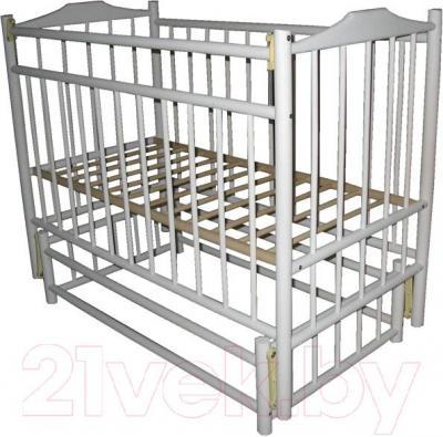 Детская кроватка УМК Василёк 6 (белая) - общий вид