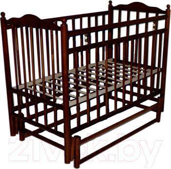 Детская кроватка УМК Василёк 6 (вишня) - общий вид