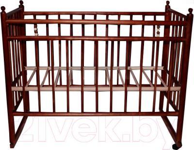 Детская кроватка УМК Василёк 7 (вишня) - общий вид