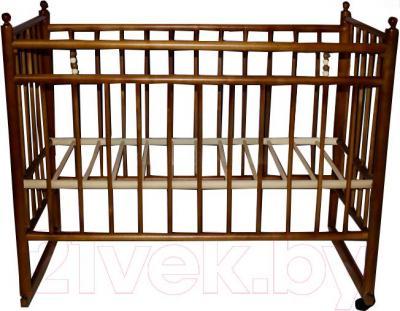 Детская кроватка УМК Василёк 7 (орех) - общий вид