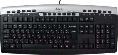 Клавиатура A4Tech KR-86 (Silver-Black) - общий вид