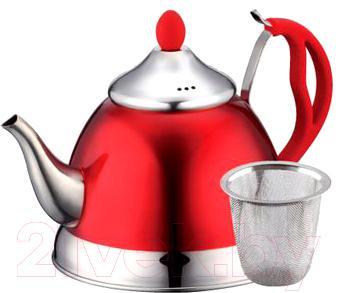 Заварочный чайник Peterhof PH-15603 (Red) - общий вид