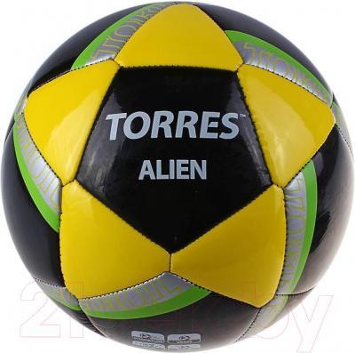 Футбольный мяч Torres Alien Black F30305B (Black-Yellow-Green) - общий вид