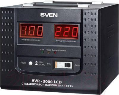 Стабилизатор напряжения Sven AVR-3000 LCD - общий вид