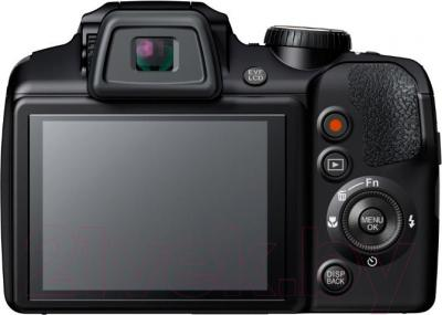 Компактный фотоаппарат Fujifilm FinePix S9200 (Black) - вид сзади