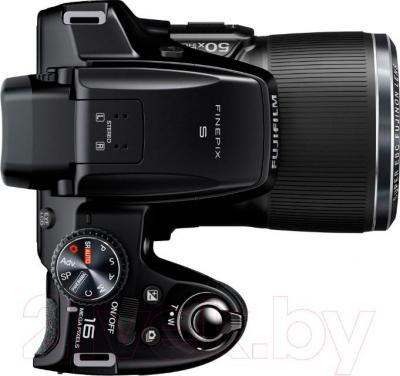 Компактный фотоаппарат Fujifilm FinePix S9200 (Black) - вид сверху
