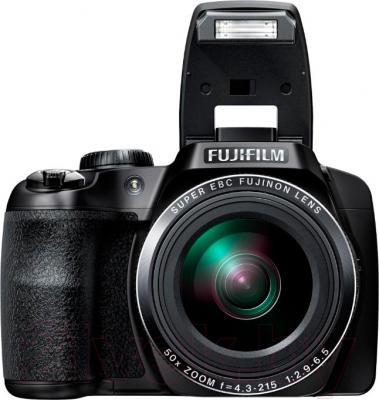 Компактный фотоаппарат Fujifilm FinePix S9200 (Black) - общий вид