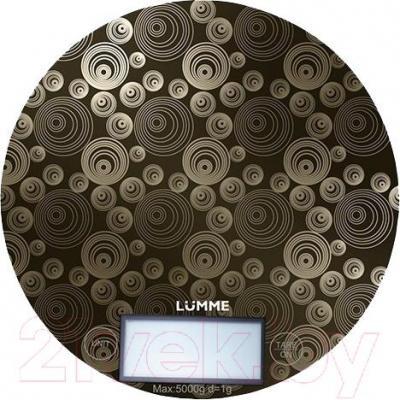 Кухонные весы Lumme LU-1317 (титановый в круги) - общий вид