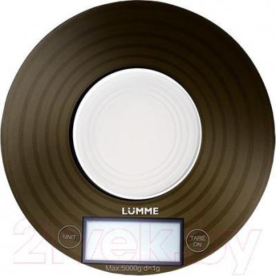Кухонные весы Lumme LU-1317 (титановый с орнаментом) - общий вид