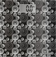 Напольные весы электронные Lumme LU-1306 (черный/круги) -