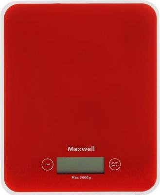 Кухонные весы Maxwell MW-1466 (красный) - общий вид