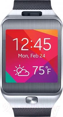 Многофункциональные часы Samsung Gear 2 SM-R380 (Titanium-Silver) - общий вид