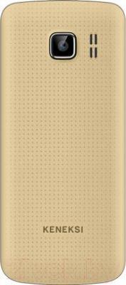 Мобильный телефон Keneksi K6 (золотой) - вид сзади