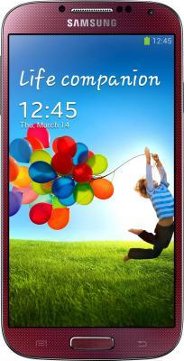 Смартфон Samsung Galaxy S4 La Fleur / I9500 (красный) - общий вид