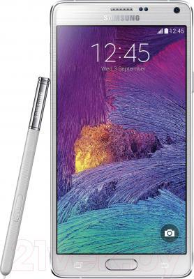 Смартфон Samsung Galaxy Note 4 / N910C (белый) - общий вид
