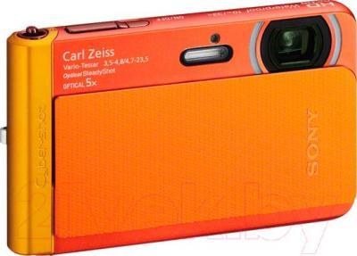 Компактный фотоаппарат Sony DSC-TX30D (оранжевый) - общий вид