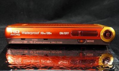Компактный фотоаппарат Sony DSC-TX30D (оранжевый) - водонепроницаемый корпус