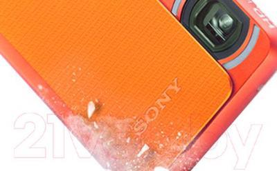 Компактный фотоаппарат Sony DSC-TX30D (оранжевый) - морозоустойчивый корпус