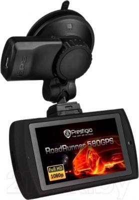 Автомобильный видеорегистратор Prestigio RoadRunner 580GPS (PCDVRR580GPS) - вид с обратной стороны