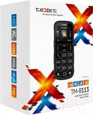 Мобильный телефон TeXet TM-B113 (черный) - упаковка