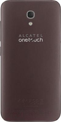 Смартфон Alcatel One Touch Idol 2 6037K (черный/шоколад) - вид сзади