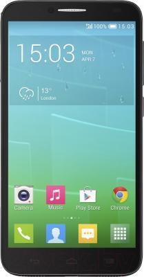 Смартфон Alcatel One Touch Idol 2 6037K (черный/шоколад) - общий вид