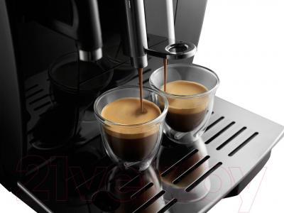 Кофемашина DeLonghi ECAM 25.462.B - приготовление 2 чашек одновременно