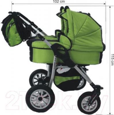 Детская универсальная коляска Tako Jumper Duo STTF (07) - вид сбоку