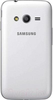 Смартфон Samsung Galaxy Ace 4 Lite Dual / G313H/DS (белый) - вид сзади