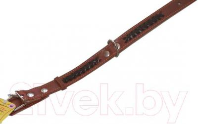 Ошейник Collar 2346 (коричневый, с вплетенной косой) - общий вид