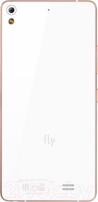 Смартфон Fly IQ4516 Octa Tornado Slim (White) - вид сзади
