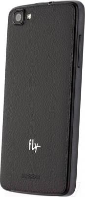 Смартфон Fly IQ4409 / Era Life 4 (черный) - вид сзади