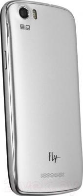 Смартфон Fly IQ4413 / Chic 3 (серебристый) - вид сзади