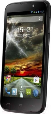 Смартфон Fly IQ4502 Quad (Black) - общий вид