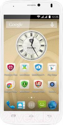 Смартфон Prestigio MultiPhone 3502 Duo (белый) - общий вид