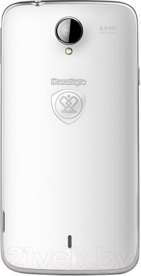 Смартфон Prestigio MultiPhone 3502 Duo (белый) - вид сзади