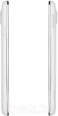 Смартфон Prestigio MultiPhone 3502 Duo (белый) - боковые панели