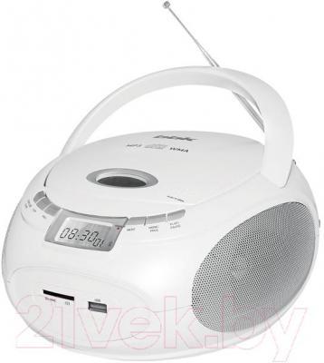 Магнитола BBK BX109U (белый) - общий вид