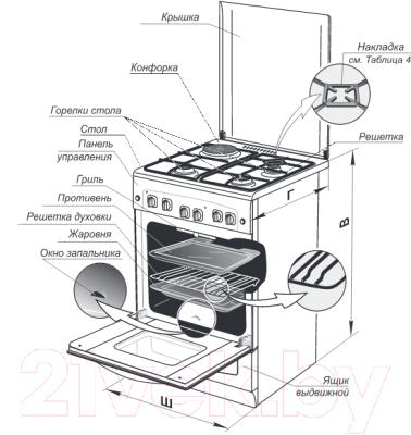Кухонная плита Gefest 5110-01