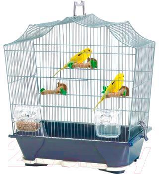 Клетка для птиц Savic Sylvie 30 (темно-синий/желтый) - общий вид