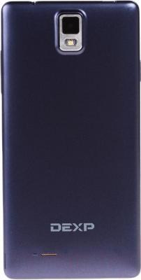 "Смартфон DEXP Ixion E 5"" (синий) - вид сзади"