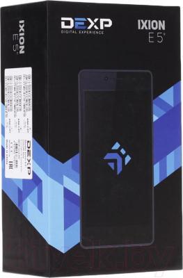 "Смартфон DEXP Ixion E 5"" (синий) - упаковка"