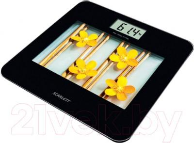 Напольные весы электронные Scarlett SC-BS33E002 (Yellow Flowers) - общий вид