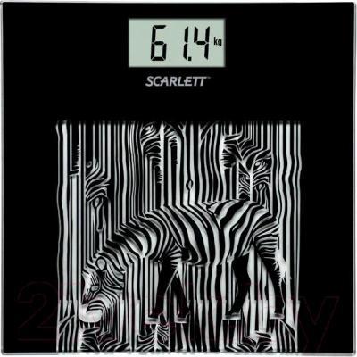 Напольные весы электронные Scarlett SC-BS33E004 (зебра) - общий вид