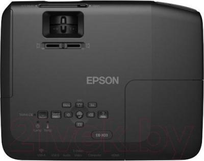 Проектор Epson EB-X03 (в комплекте с лампой ELPLP78) - вид сверху