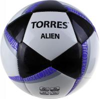 Футбольный мяч Torres Alien White F30305W (White-Black-Purple) -