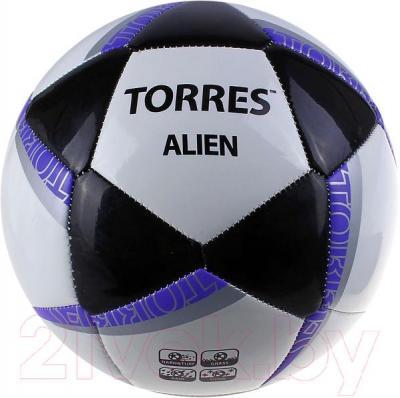 Футбольный мяч Torres Alien White F30305W (White-Black-Purple) - общий вид