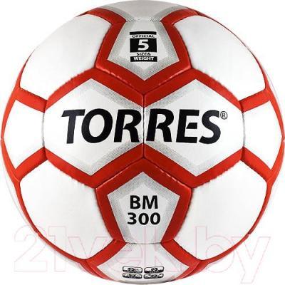 Футбольный мяч Torres BM 300 F30095 (White-Silver-Red) - общий вид