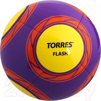 Футбольный мяч Torres Flash F30315 (Purple-Yellow-Orange) - общий вид