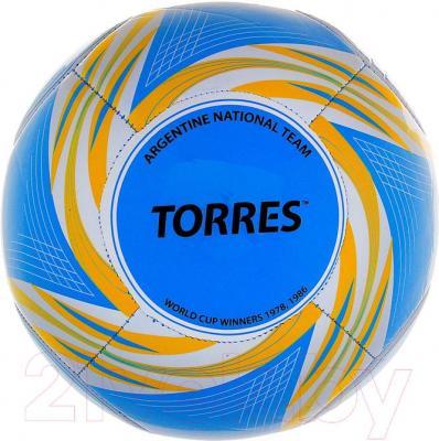 Футбольный мяч Torres WC2014 Argentina (Light Blue) - общий вид